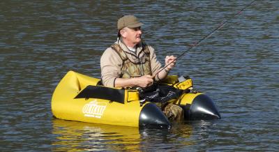 """Dave Olley and his """"Banana Boat"""""""