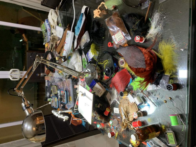 Untidy desk