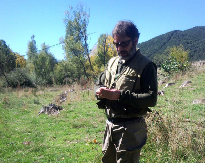 The fine tippet and small flies in Spain were hard work for my old eyes