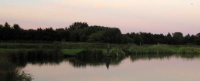 Enjoying an evening at Lochter Fishery
