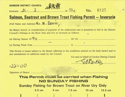Inverurie Burgh Fishings Permit