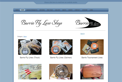 The Barrio Fly Lines website at www.flylineshop.com