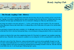 Screenshot of The Beauly Angling Club Website.