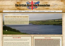 Screenshot of The British Float Tube Association Website.