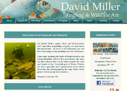 Screenshot of The David Miller Art Website.