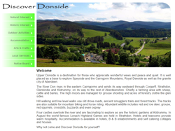 Screenshot of The Discover Donside Website