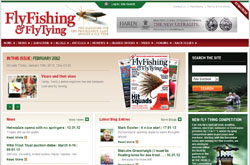 Homepage screenshot of Fly Fishing and Fly Tying Magazine