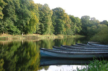 Loch Leven boats at Haddo Trout Fishery