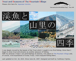 Trout and Seasons of The Mountain Village in Japan.