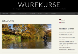 Homepage screenshot of Wurfkurse