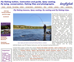 Screenshot of The Let's Fly Fish Website.