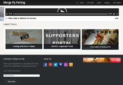 Screenshot of The Merge Fly Fishing website