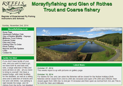 Screenshot of The Moray Fly Fishing Website.