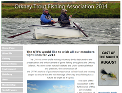 Screenshot of The Orkney Trout Fishing Association Website.