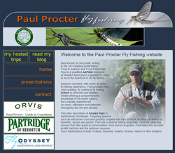 Screenshot of The Paul Procter Fly Fishing website
