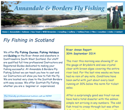 Screenshot of The River Annan Website.