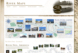 Screenshot of The River Don Maps Website