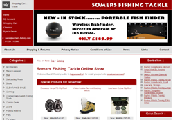 Screenshot of The Somers Fishing Tackle Website.