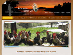 Homepage screenshot of Tomas Gil Artesania