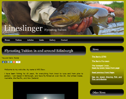 Screenshot of The Will Shaw Lineslinger website