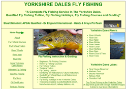 Screenshot of The Yorkshire Dales Fly Fishing Website