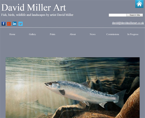 Screenshot of the David Miller Art website