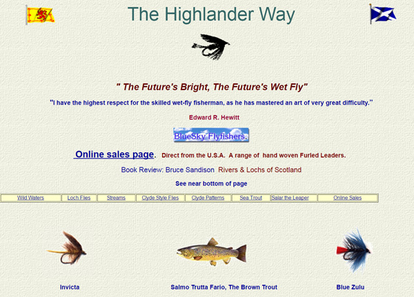 Screenshot of The Highlander Way website