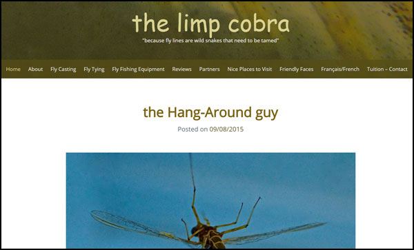 Homepage screenshot of Marc Fauvet's Limp Cobra Blog