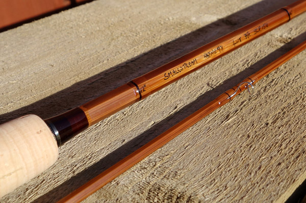 A custom cane fly rod built by Sandy Nelson