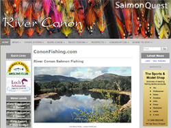 Screenshot of The River Conon website
