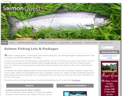 Screenshot of the Salmon Quest website